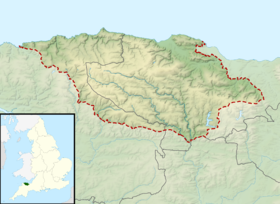 Exmoor National Park UK relief location map.png