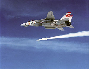 AIM-54 Phoenix - AIM-54 Phoenix seconds after launch (1991)