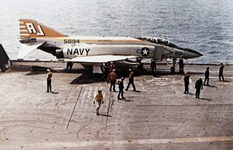 Carrier Air Wing Eight - An VF-142 F-4J Phantom on USS America in 1974
