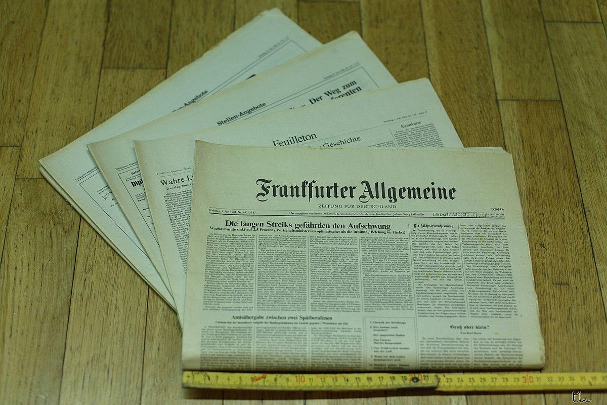 Spaltenbreite Zeitung