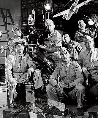 Cinematography - A camera crew from the First Motion Picture Unit