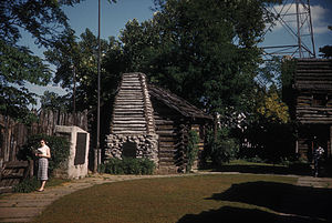 Fort Nashborough - Reconstructed replica of Fort Nashborough