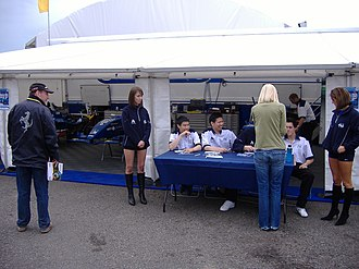 British Formula Renault Championship - The Scorpio Motorsport team at Donington Park in 2008.