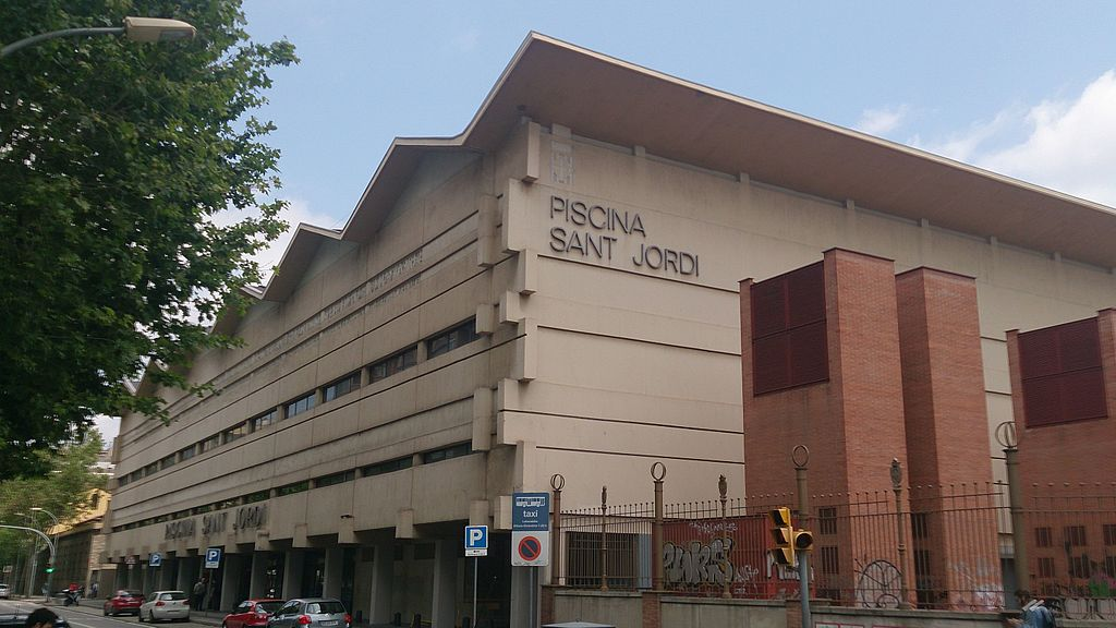 File Fachada De Piscina Sant Jordi Barcelona Jpg