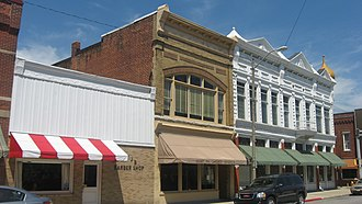 National Register of Historic Places listings in Grant County, Indiana - Image: Fairmount Commercial Historic District