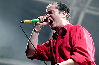 Mike Patton - Patton performing with Faith No More at the 2010 Soundwave Festival in Perth, Australia.
