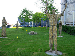 "Legacy of the Great Irish Famine - Rowan Gillespie's ""Famine"", in Ireland Park, Toronto Harbourfront"