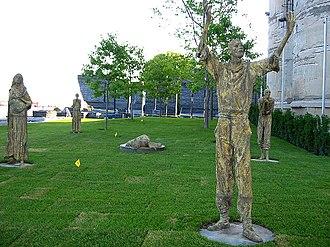 "Legacy of the Great Irish Famine - Rowan Gillespie's ""Famine"", in Ireland Park, Toronto Harbourfront"