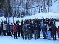Fanfare militaire, transition entre les deux sprints de biathlon 2.JPG