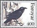 Faroe stamp 275 the north atlantic raven (corvus corax varius).jpg