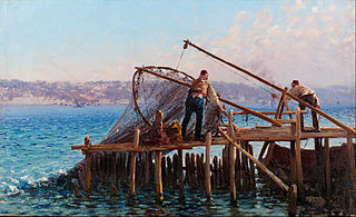 Fishermen Bringing in the Catch