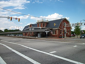 National Register of Historic Places listings in Cumberland County, North Carolina - Image: Fayetteville Amtrak ACL Station; Hay & Winslow