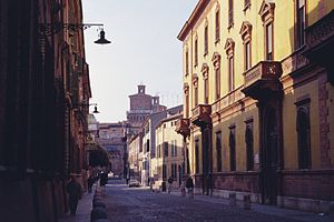 Music of Emilia-Romagna - Street in the Renaissance town center of Ferrara.