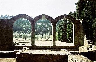Fiesole - Arches near the Roman theatre.