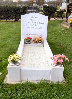 Lowestoft Cemetery - The grave of Addy, Levina and Kayden McLelland