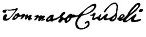 Tommaso Crudeli - Signature Tommaso Crudeli (1735)