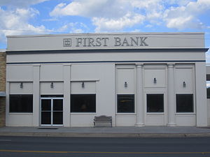 Junction City, Arkansas - First Bank of South Arkansas at 131 North Main Street