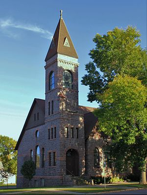 National Register of Historic Places listings in Lyon County, Iowa - Image: First Methodist Church Rock Rapids