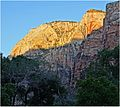First Rays, Zion NP, Sunrise, 5-1-14r (14353472284).jpg