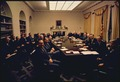 First photo session with Richard M. Nixon's first term cabinet in the cabinet room. - NARA - 194278.tif