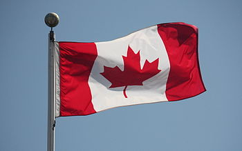 English: The flag of Canada, flying in Vanier ...
