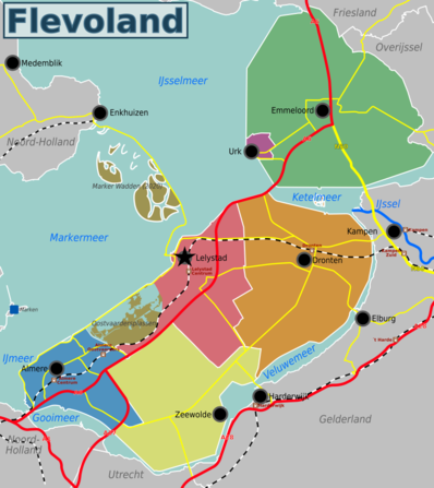 Map of Flevoland