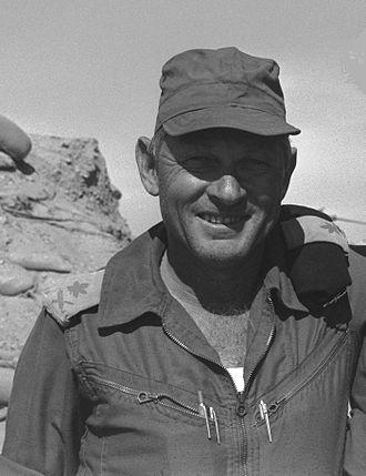 Avraham Adan - Adan near the Suez Canal; October 27, 1973