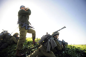 Golani Brigade - Lt. Gen. Benny Gantz at a military drill conducted by the Barak Battalion in northern Israel