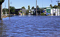 Flooded intersection of Firebrace Street and Ocallaghans Parade in Horsham.jpg