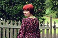Floral Print Dress and a Red Pixie Cut.jpg