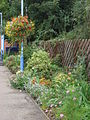 Flowerbeds at Sudbury railway station in 2008.jpg
