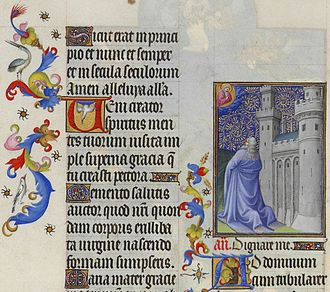 Psalm 119 - Les Très Riches Heures du duc de Berry, Folio 49r - David Releases Prisoners the Musée Condé, Chantilly