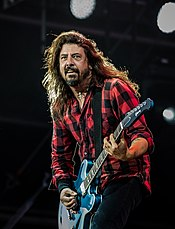 Dave Grohl performing with Foo Fighters in 2018