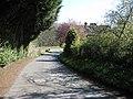 Footpath down a narrow lane, Stowfield - geograph.org.uk - 764362.jpg