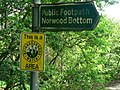 Footpath to Norwood Bottom Sign, Lindley Bridge - geograph.org.uk - 176478.jpg