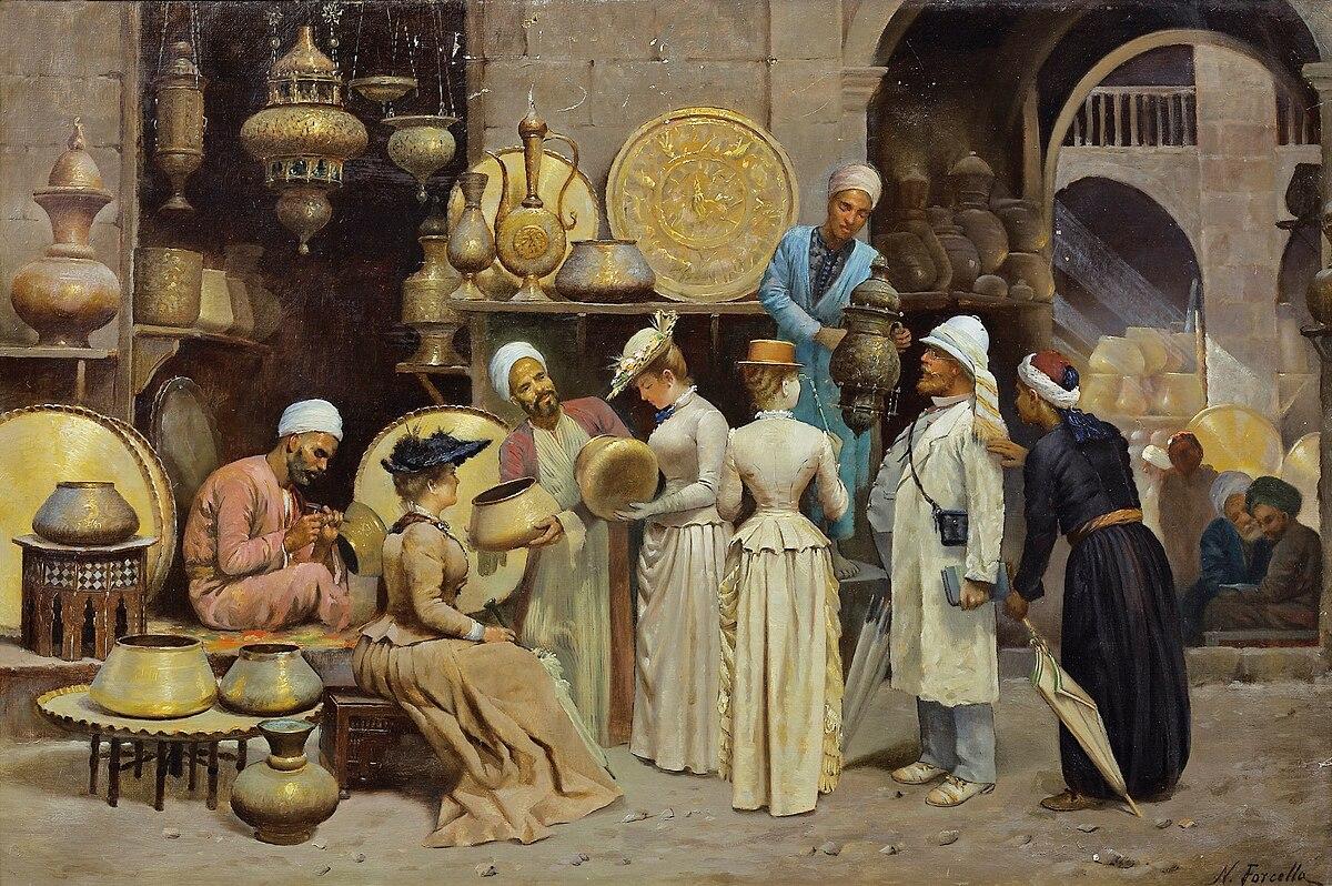 File:Forcella, Nicola - Dans le souk aux cuivres - before 1868 (hi res).jpg