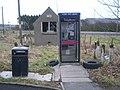 Fordoun derelict telephone exchange and kiosk - geograph.org.uk - 678122.jpg