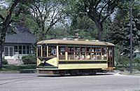 FortCollinsBirney streetcar MountainAve, cropped.jpg
