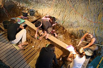 Noisetier Cave - excavation during the summer of 2009