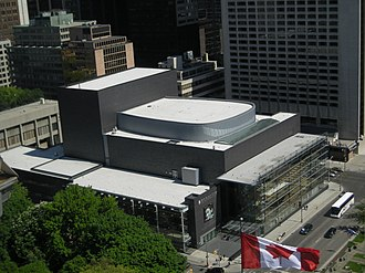 Canadian Opera Company - Image: Four Seasons Centre from above