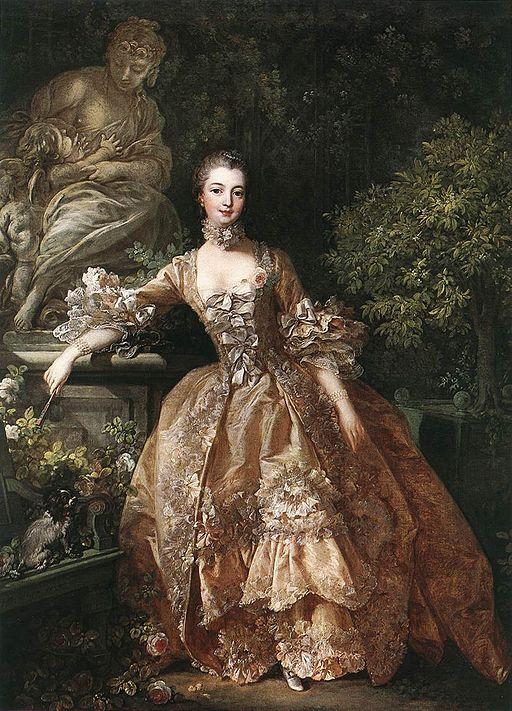 François Boucher - Portrait of Marquise de Pompadour - WGA02909