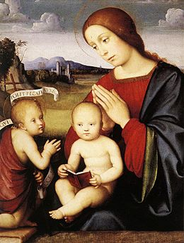 Francesco Francia - Madonna and Child with the Infant St John the Baptist - WGA8176.jpg