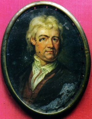 Francis Bird - Francis Bird, miniature, oil on copper
