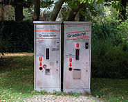 Frankfurt-Hoechst Friedhof Grablichtautomat