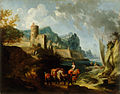 Franz Ignaz Flurer - Seacoast with Travellers and a Town - WGA07953.jpg