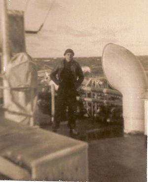 HMCS Fredericton (K245) - Seaman Fernand Beaupré aboard HMCS Fredericton (1944)