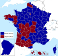 French presidential election (2. round) results (including overseas) by departament, 2007.png