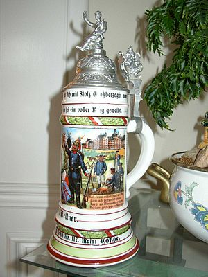 Beer Stein owned by Friedrich Kellner to comme...