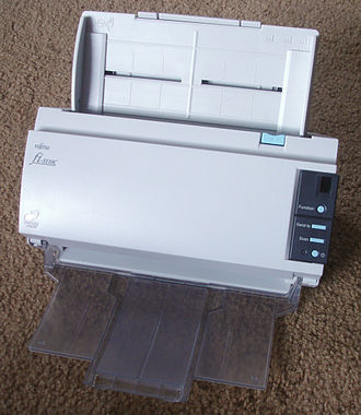 Automatic document feeder - A scanner with a duplexing automatic document feeder