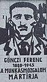 Gönczi Ferenc a munkásmozgalom mártírja emléktábla, 2018 Oroszlány.jpg